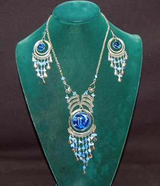 Native Dark Blue Haze Necklace