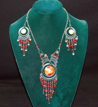 Native Orange Shade Necklace