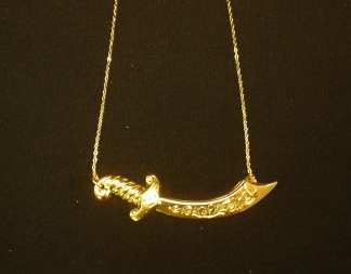 24K Gold Dip Scimitar Necklace