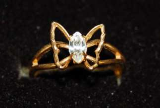 White Butterfly Ring