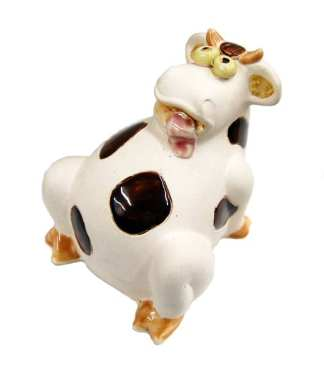 Ceramic Cow Piggy Bank