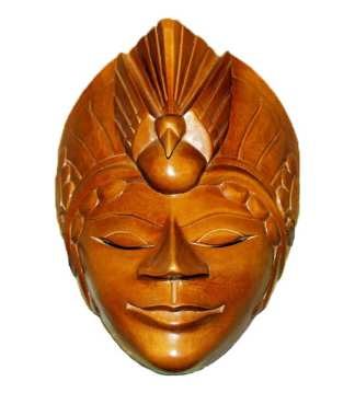 Wood Face Mask with Bird