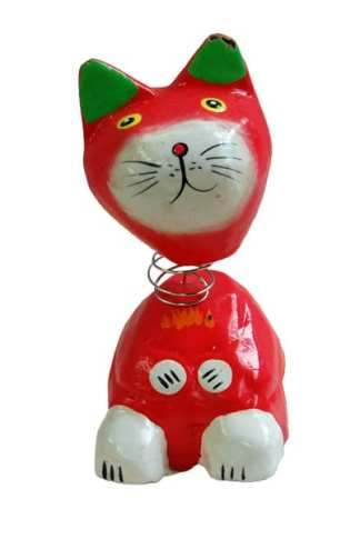 Red Bobble Head Cat