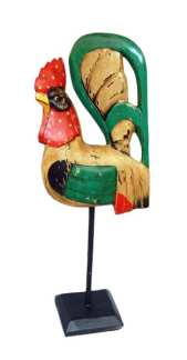 Colorful Chicken on a Stand