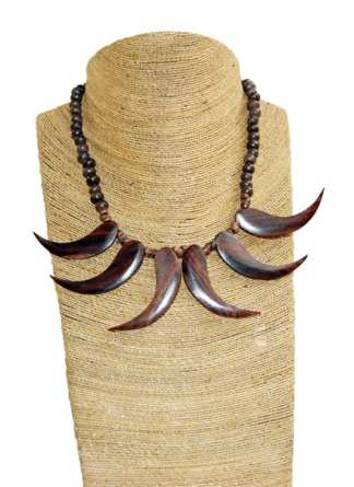 Wooden Prong Necklace