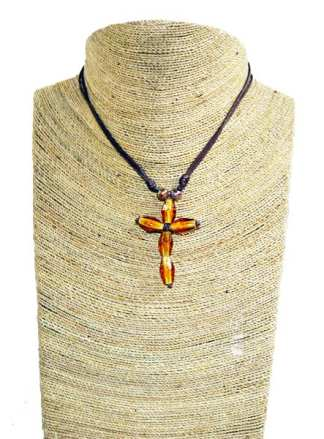 Necklace with Yellow Cross
