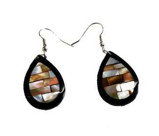 Oval Sea Shell Earring