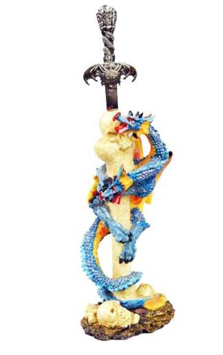 Blue Dragon Dagger w/stand