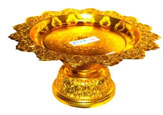 Gold Finish Serving Stand-16