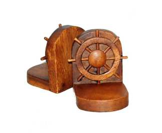Ships Wheel Bookends
