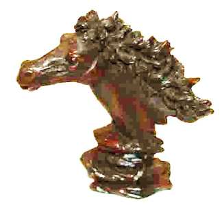 Resin Horse Bust