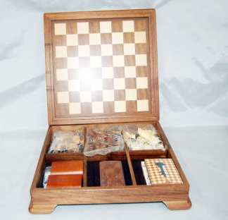 Wood Inlay Chess Set Game Board