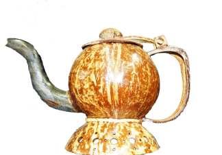 Coconut Tea Pot Decoration