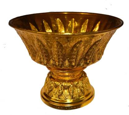 Golden Finish Serving Bowl-15