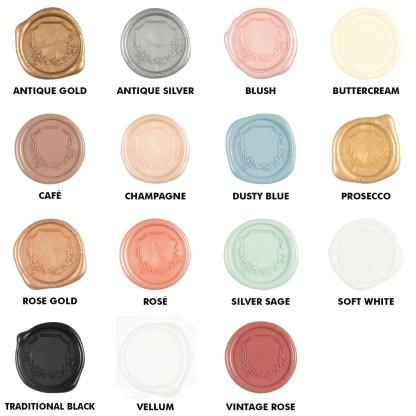 Wax Seal Color Chart