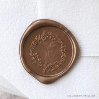 Garden Wreath Wax Seal