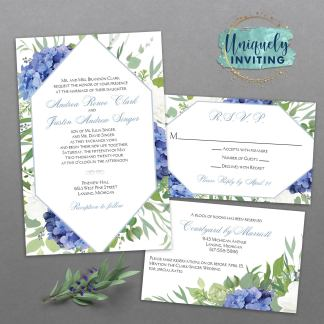 Something Blue Invitation Set