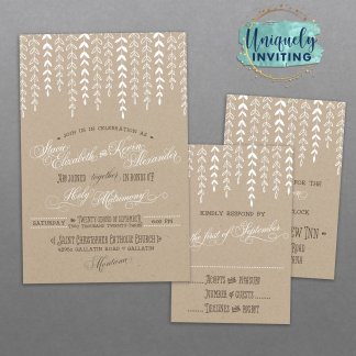 Wonderful Willow Invitation Set