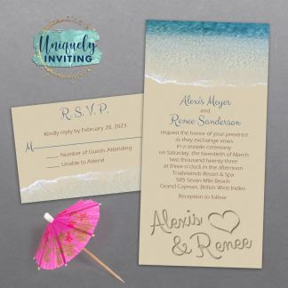 Names in the Sand Invitation Set