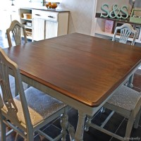 Vintage Dining Table Refinishing Tutorial