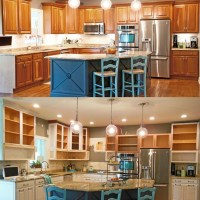 Updating, raising and painting kitchen cabinets