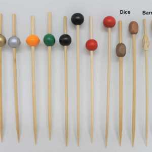 "4.75"" Large-Beaded Bamboo Picks"