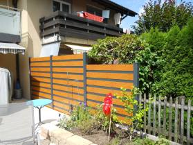 Privacy fence wood imitation and dark gray 1