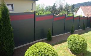 fence flat grey and red 2