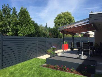 fence louvre dark grey 3