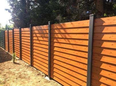 fence louvre wood imitation