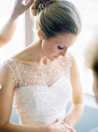 Pearl Wedding Gown – shared on Southern Weddings
