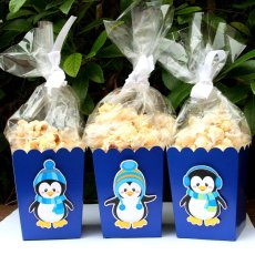 Penguin Winter Party Goodie Boxes Set – created and sold by PaperPartyParade on Etsy