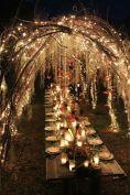 Fairy Twinkle Light Arbor over Garden Estate Table shared on Bodas Y Weddings