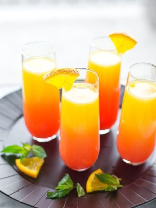 Tequila Sunrise Mimosa Signature Drink – recipe shared by Just Putzing Around the Kitchen