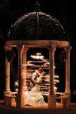 Magical Starry Sparkler Light Wedding Photo Opp Under the Gazebo – spotted on Pinterest