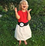 Pokémon Pokeball Girls Costume Dress – created and sold by thegeekgarden on Etsy