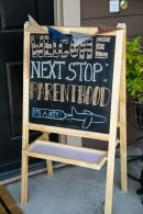 Next Stop Parenthood Sign – shared by Nat Your Average Girl
