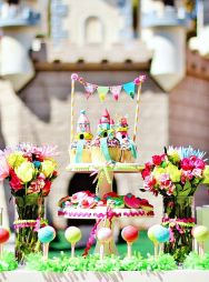 Colorful Mini Golf Food Buffet Display and Dessert Bart – shared by Hostess with the Mostess