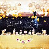 Twinkle Twinkle Little Star Food Display with Chalkboard Backdrop – spotted on Pinterest