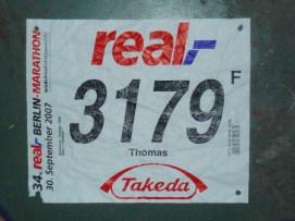 34.Real Berlin Marathon start yeri kalmayınca sakatlığı nedeni ile koşamayan bir Almanın adına koştum adam çok sevindi bu dereceyi ben yapamazdım diye:)