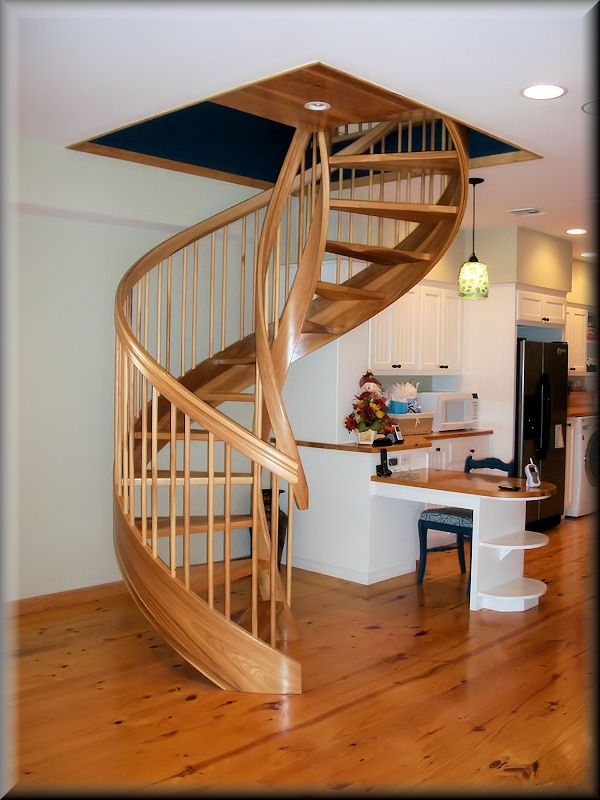 Wooden Spiral Stairs Custom Made By Unique Spiral Stairs | Spiral Staircase Wooden Steps | Tiny House | Wrought Iron | Rustic | Creative | 2 Story