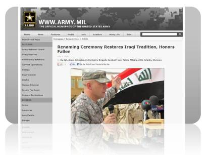 Renaming Ceremony – Iraq