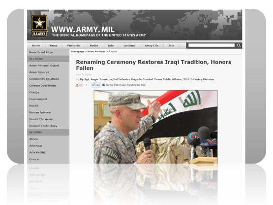 Renaming Ceremony – Iraq