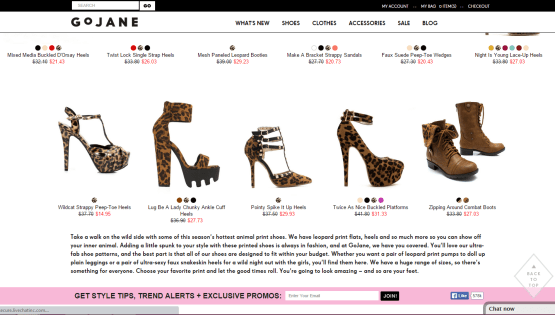 GoJane Product Descriptions