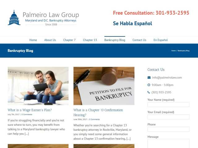 Blog Posts for Maryland Bankruptcy Attorney