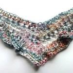 Graffiti cotton ribbon shawl