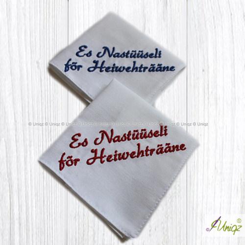 Heimweh Taschentücher, Schwitzerdütsch