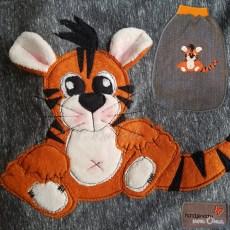 Pucksack (Strampelsack) mit Tiger-Applikation
