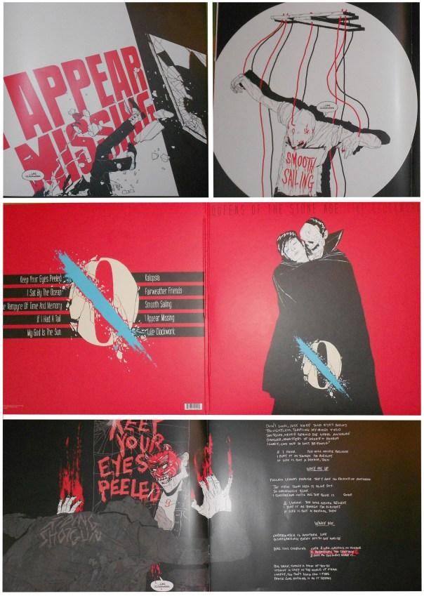 Une petite sélection de l'artwork  crée par Boneface pour l'album ...Like Clockwork