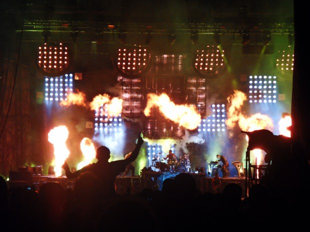 Le concert événement de Rammstein aux Vieilles Charrues c'était sur la scène Glenmor le 18 juillet 2013. (photo : Léa Fochesato)